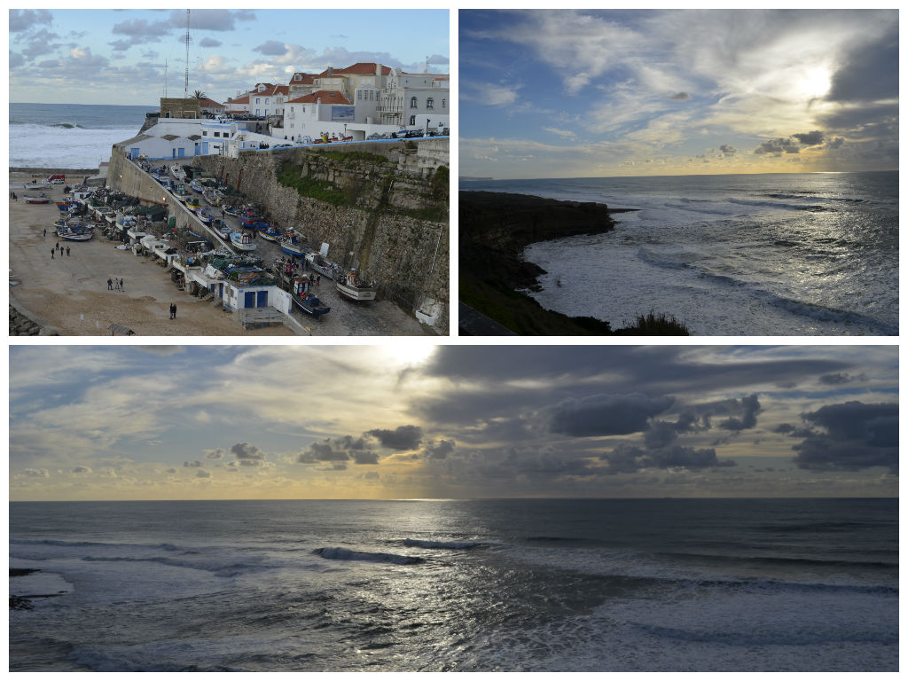 Ericeira lisbon Fishing town collage