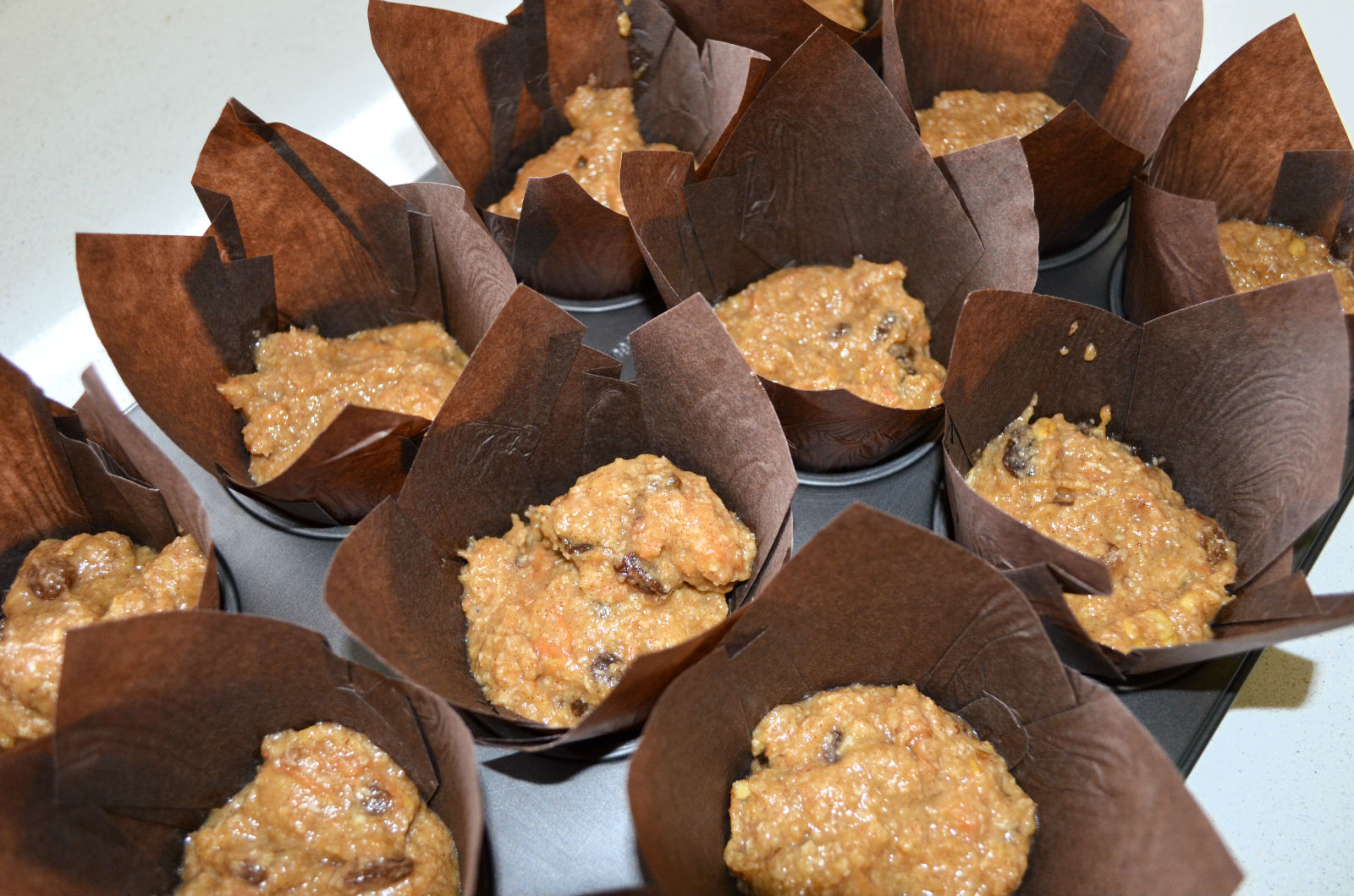 morning glory muffins liners batter