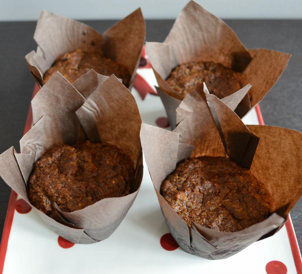 morning glory muffins polka dot tray
