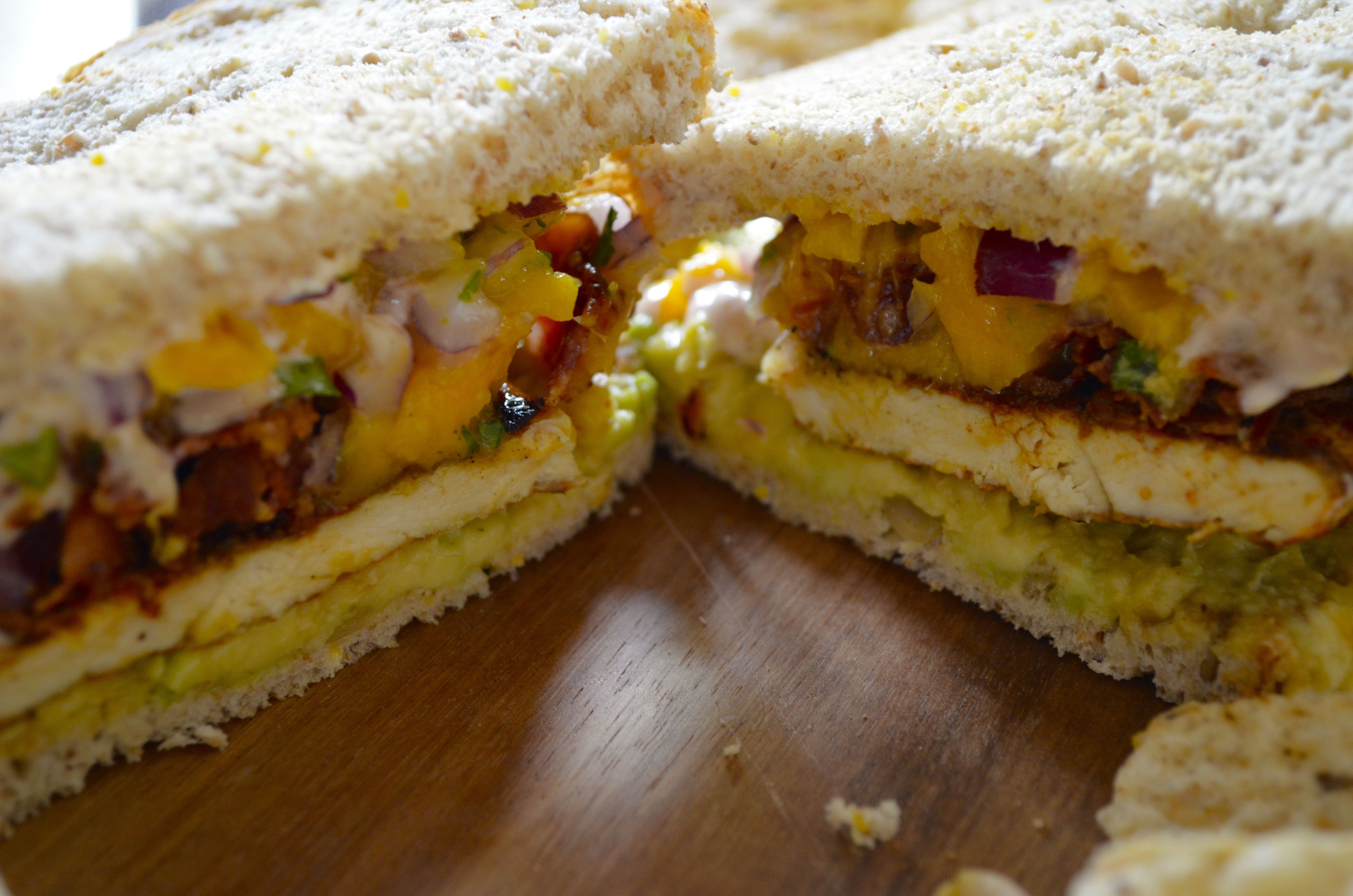Chicken bacon mango salsa sandwich 7